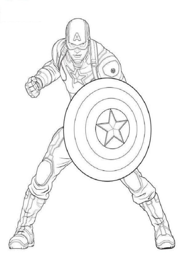 Dibujo Capitan America